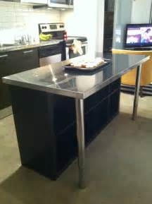 stainless steel movable kitchen island condo island ikea hackers ikea hackers