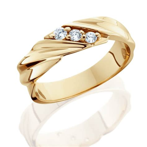 1 10ct diamond 14k yellow gold mens wedding ring ebay