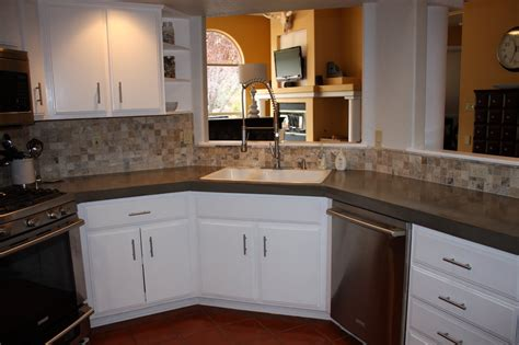 ideas to remodel a small kitchen remodelaholic install of concrete countertops