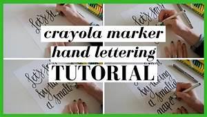crayola marker hand lettering tutorial michelle cherie With crayola markers for hand lettering