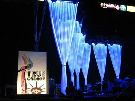 voile stage drapes  true colour concert