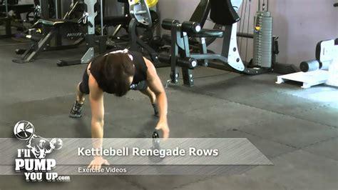 renegade rows kettlebell