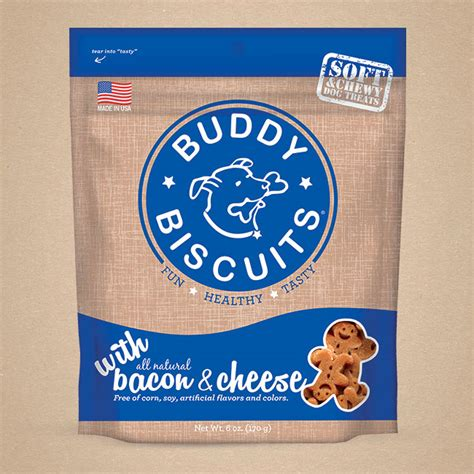 My big dog loves the size and flavor of these person shaped treats. soft-chewy-bacon-cheese - Buddy Biscuit
