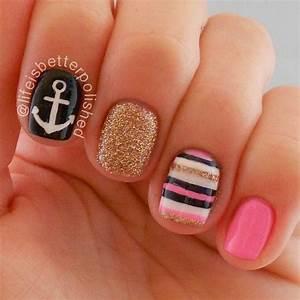 Sailor nails - becoration