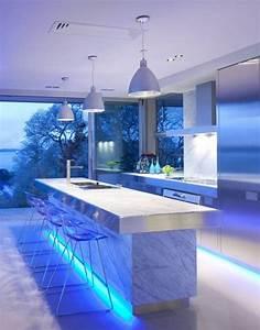ultra modern kitchen design idea - Iroonie com