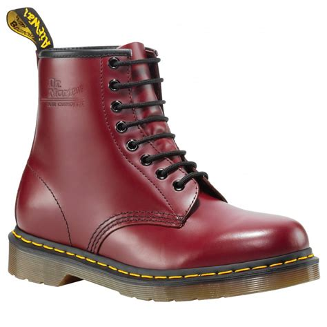 dr martens unisex classic red boots buy  marshall shoes