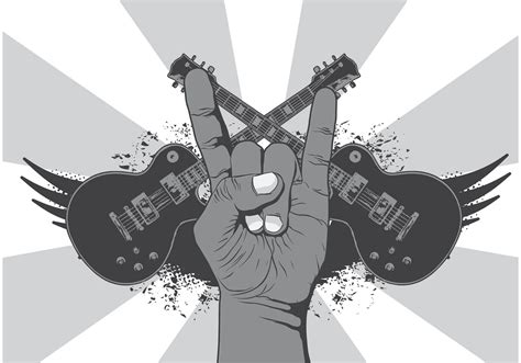 Rock N Roll Music Symbol Vector Background  Download Free