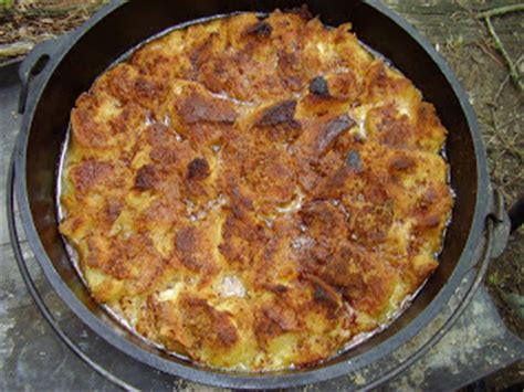 Dutch Oven Madness Day Stuffed Peach French Toast