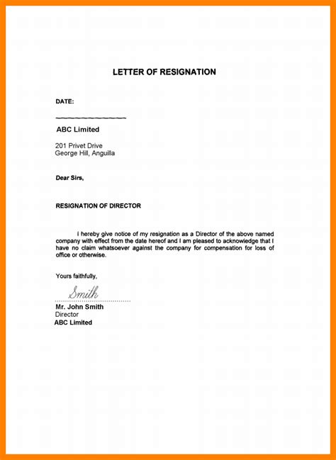 list of reasons for leaving a job 5 resignation letter sample uae format of notice