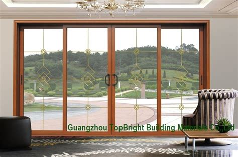 china automatic glass sliding door glazed sliding
