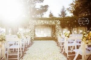 Picture Of Romantic Wedding Aisle Petals Decor Ideas