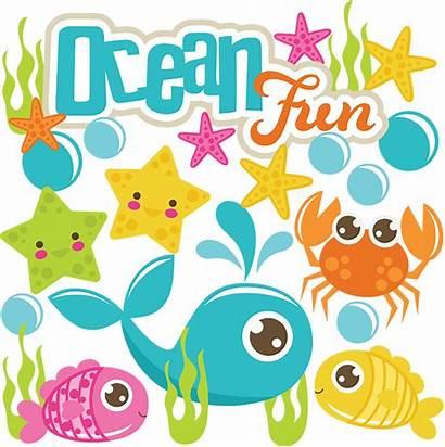 Ocean Svg Fun Clipart Scrapbook Beach Scrapbooking