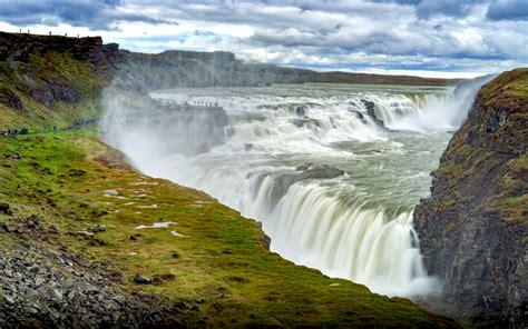 Gullfoss Waterfall Backgrounds by Gullfoss Waterfall In Iceland Desktop Wallpaper Hd