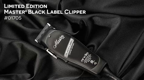 andis limited edition master black label clipper