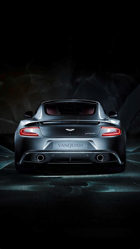 aston martin vanquish rear view android wallpaper