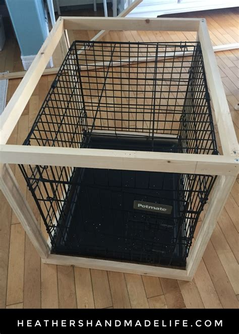 diy dog crate cover table  heathers handmade life