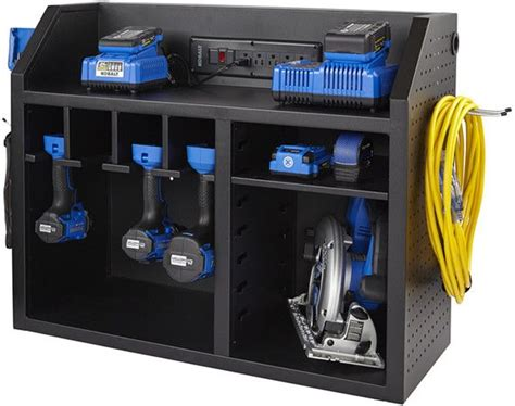 kobalt charging station  tool storage wall cabinet
