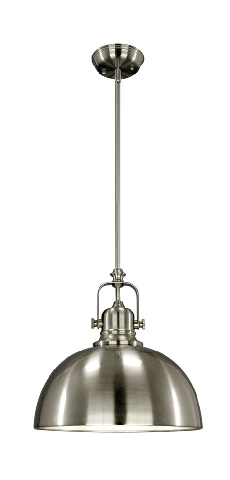 industrial pendant light fixture  brushed nickel