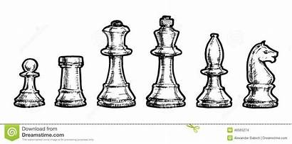 Chess Drawing Queen