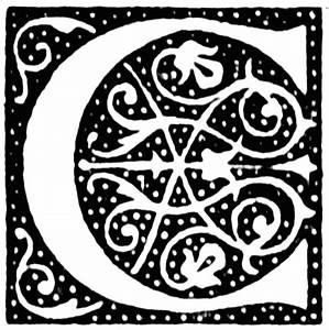 C, Ornate initial | ClipArt ETC