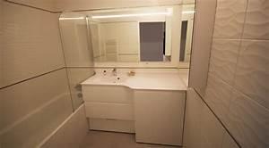 Miroir Salle De Bain Avec éclairage Intégré : dissimuler un lave linge dans une salle de bain atlantic ~ Dailycaller-alerts.com Idées de Décoration