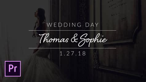 create minimal wedding titles  adobe premiere pro