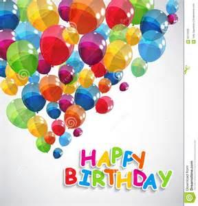 Happy Birthday Balloons Color