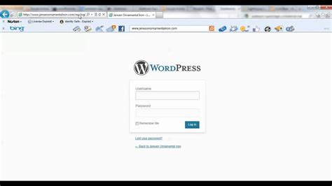 Login To Wordpress Admin Panel (wp-admin)