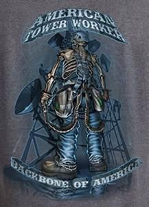 Tnt  American Tower Climber Tshirt