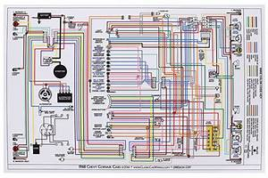 Factory Wiring Diagram  Full Color Fits 1968 Corvair   Opgi Com