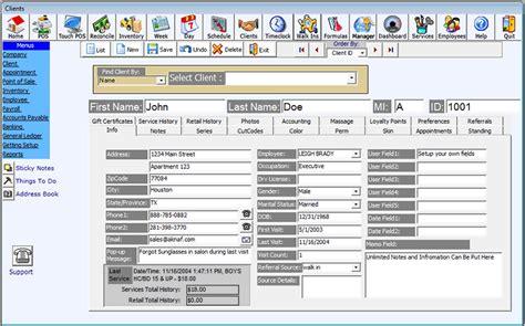 client management  salon software salon management
