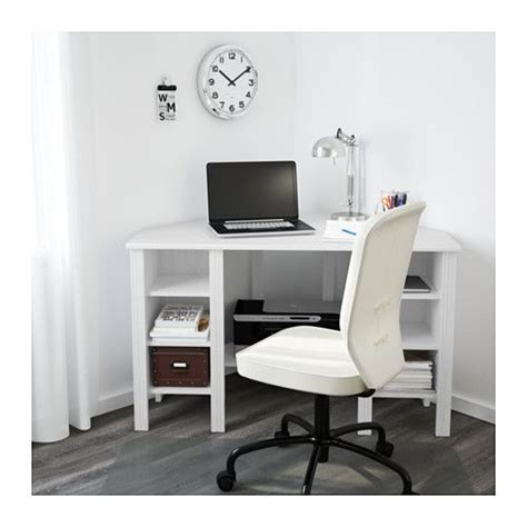 bureau pc ikea brusali corner desk white 120x73 cm desks window and