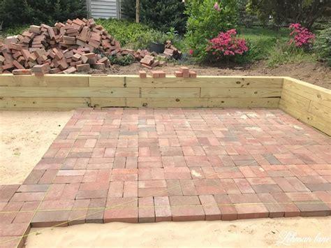 brick patio diy brick patio lehman lane