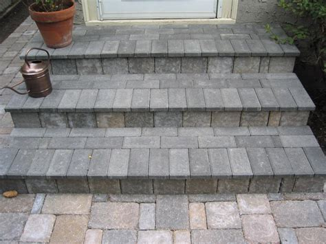 brick steps crosstown concrete brick paving
