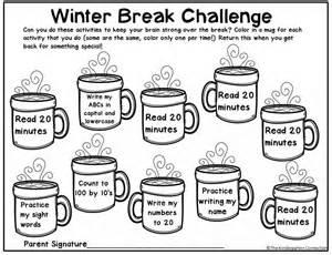 math families winter homework the kindergarten connection