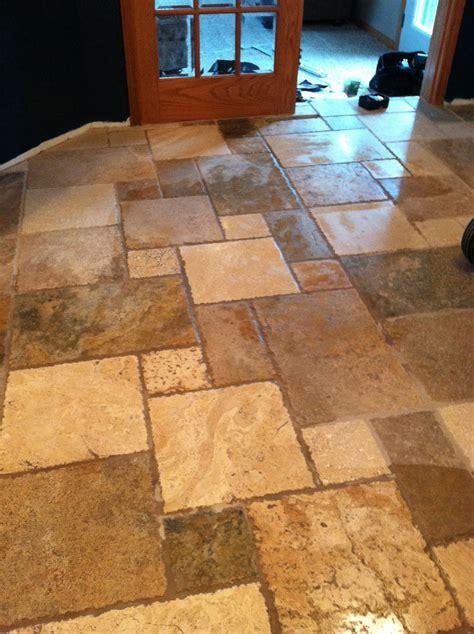 travertine tile kitchen floor kitchen flooring rustic