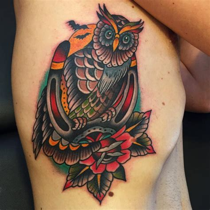 owl tattoos   time tattooblend