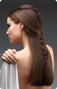 Peinados para cabello lacio largo suelto y fáciles De Peinados