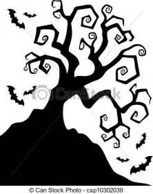 Spooky Halloween Tree Silhouette