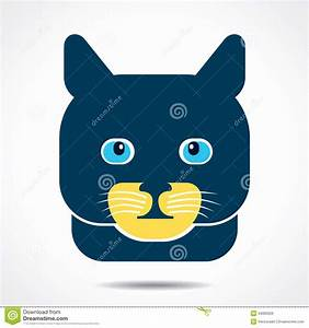 Cat Face Icon Illustration Royalty Free Stock Images ...