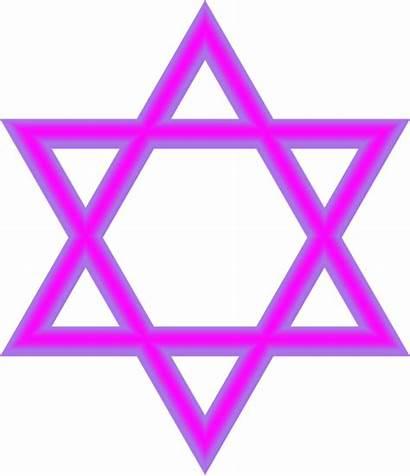Star Jewish Purple Clip David Judaism Clipart