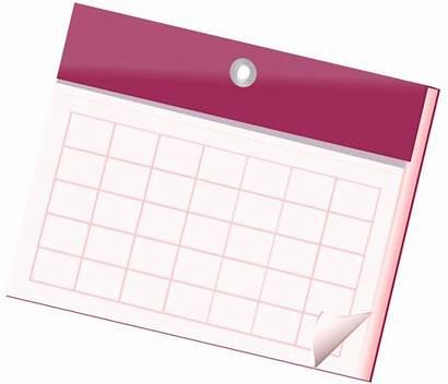 Calendar Clipart Empty Clip Sheet Wall Transparent