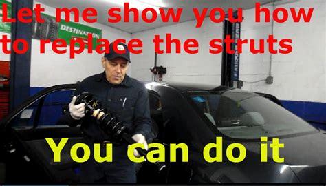replace rear struts    honda accord youtube
