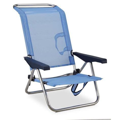 siege de plage pliante eredu chaise de plage lit 4 avec poignées