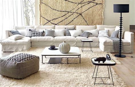 salon avec un canapé blanc 12 idées déco s 39 inspirer