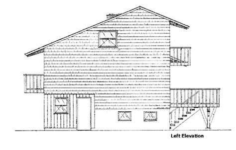 House Plan 98399 Cabin Style with 1188 Sq Ft 2 Bed 2 Bath