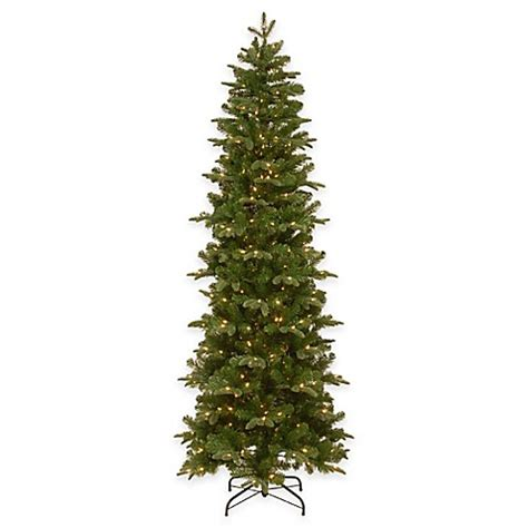 pencil christmas trees clearance national tree company 7 5 foot prescott pre lit pencil tree with clear lights www