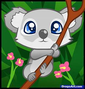 How to Draw a Koala for Kids, Step by Step, Animals For ...