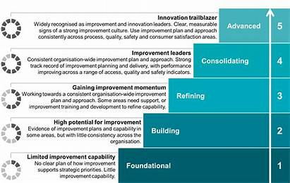 Improvement Matrix Strategy Organisational Maturity Levels Plan