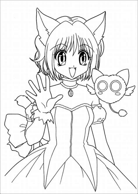 Cat girl anime coloring pages ColoringStar